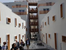 """Visite du programme """"Les Jardins d'Allonville"""" situé dans le centre-ville de Nantes"""