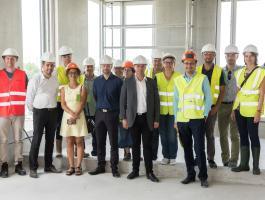 Visite de chantier des futurs bureaux du Pôle Erdre et Loire Nantes Métropole avec Fabrice Roussel