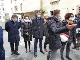 Visite de la Ministre du Logement, Mme WARGON sur notre chantier de Pitre-Chevalier