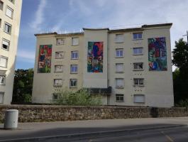 Inauguration de la fresque de la résidence rue Pitre Chevalier le 26 août 2016