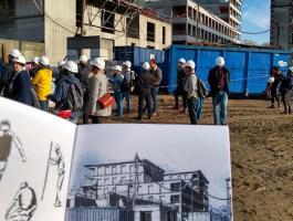 Visite de la caserne Mellinet et du programme Memory, lors des Journées Nationales de l'architecture 2019
