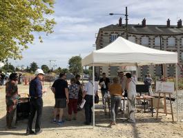 Visite commentée du chantier de la caserne Mellinet