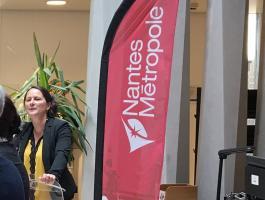 Johanna ROLLAND inaugure le nouveau Pôle Erdre et Loire de Nantes Métropole, construit par le Groupe CIF