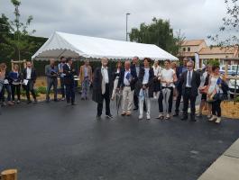 Inauguration de latranche 5 de la ZAC des Vignes, aux Sorinières