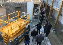 Visite du chantier Cœur Bouguenais le 17 Octobre